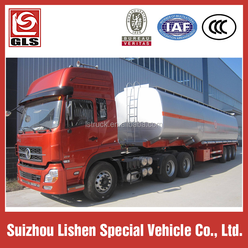 SLS combustible cisterna remolque 55M3, Dongfeng tractor