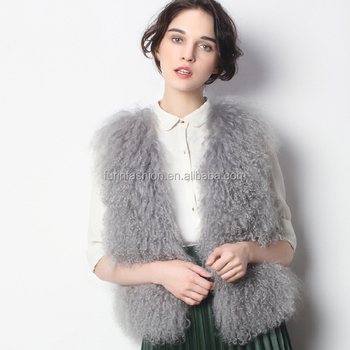 2017/2018 New Arrival Wholesale Real Mongolian Lamb Fur Vest with Cheap Manufacture Price