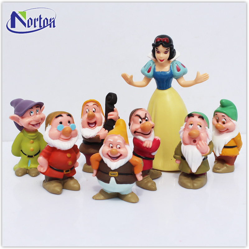 The shop decorated Snow White and seven small dwarf resin statues NTFC-130Y