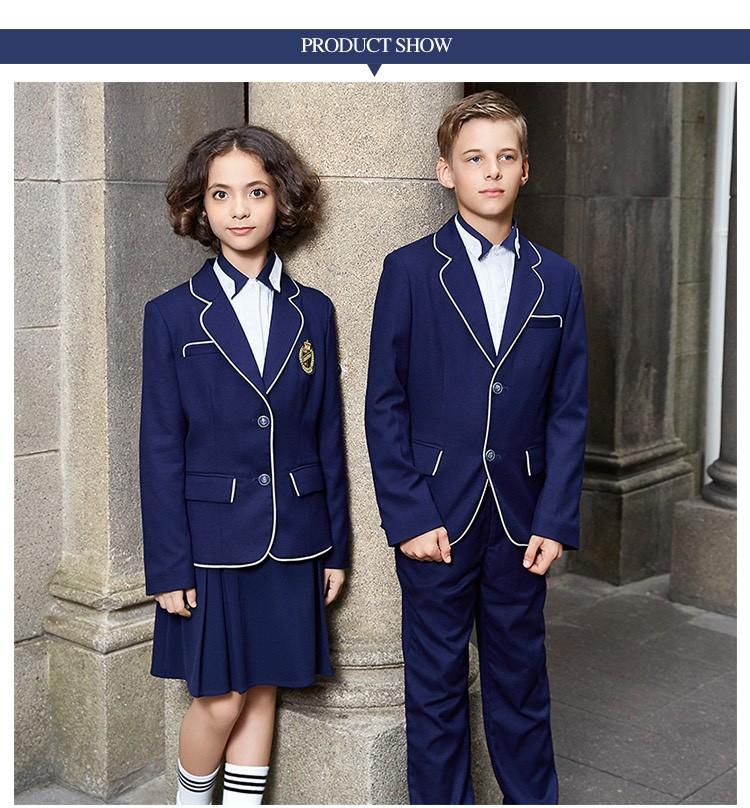 bleu marine uniforme scolaire blazer costume uniforme cole coll ge buy coll ge scolaire. Black Bedroom Furniture Sets. Home Design Ideas