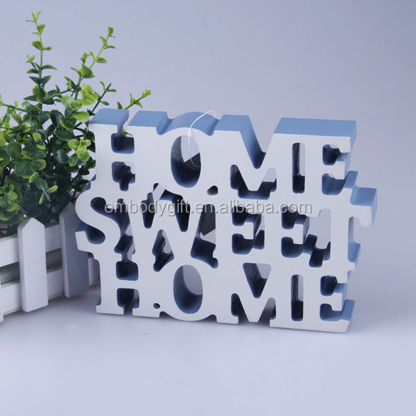 Color Painted Wooden Letters Home Sweet Decor