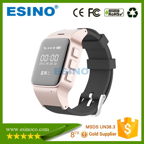 2016 Manufaturer GPS Watch Tracker for Senior Citizen with LBS WIFI and GPS Three Way Location with Sim Card