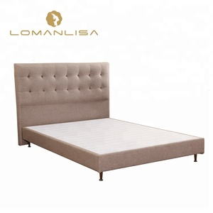 modern adjustable fabric wooden double bed frame