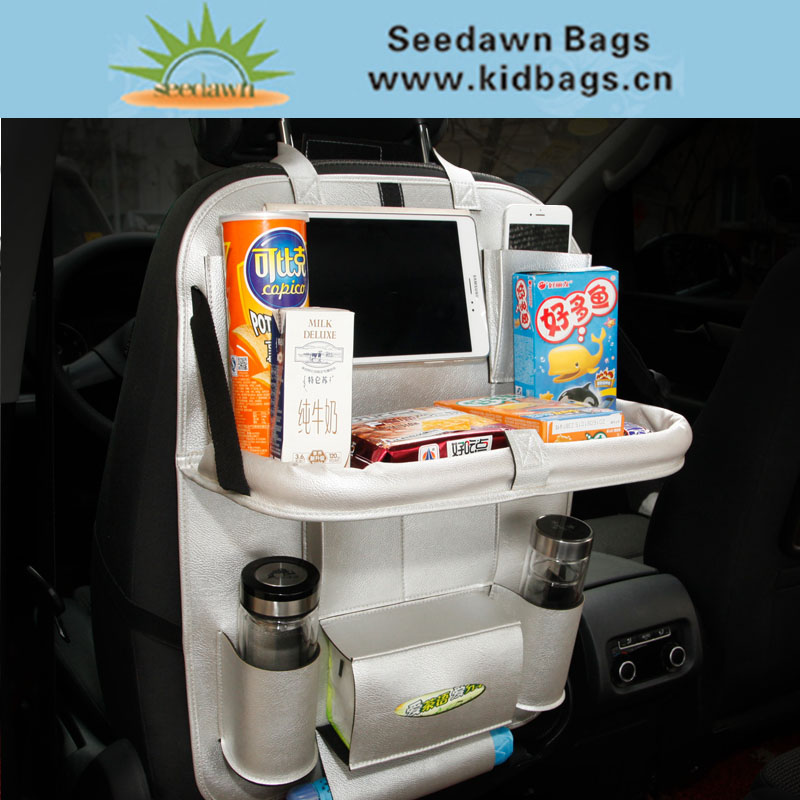Car Seat Storage Bag Multi Pocket Organizer Waterproof Seat Back Bag Accessories