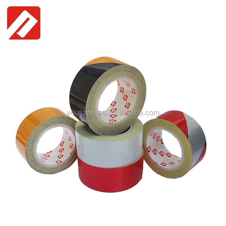 2018 Hot Sale !! Yellow adhesive reflective road marking fluorescent cloth tape for general use