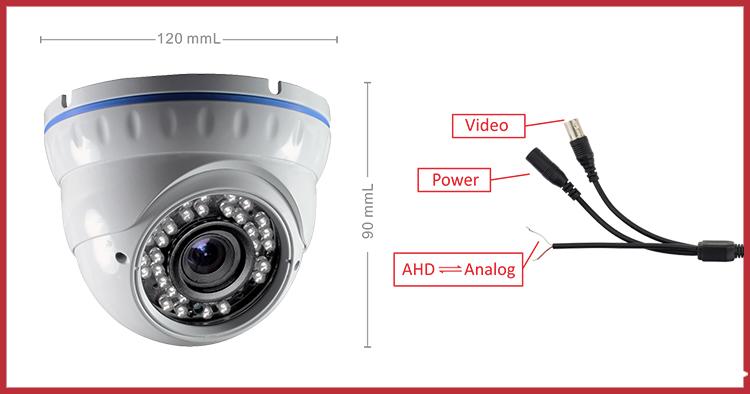 White Ahd Camera 720p Cctv Dome Camera Full Form Cctv Camera Top ...