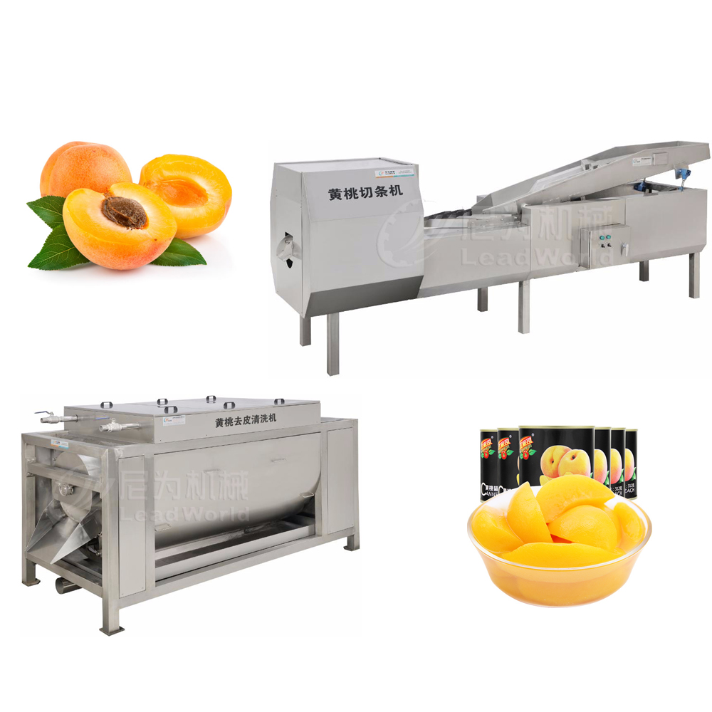Apricot And Peach Washing And Peeling Machine