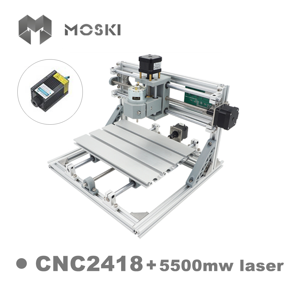 <strong>CNC</strong> 2418 ER11 with 5500mw laser 3 Axis Pcb <strong>cnc</strong> laser engraving router machine