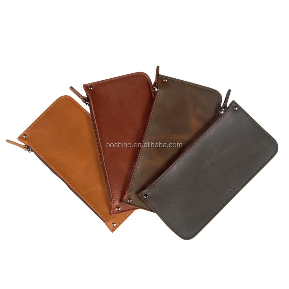 BOSHIHO Genuine Leather Phone Pouch