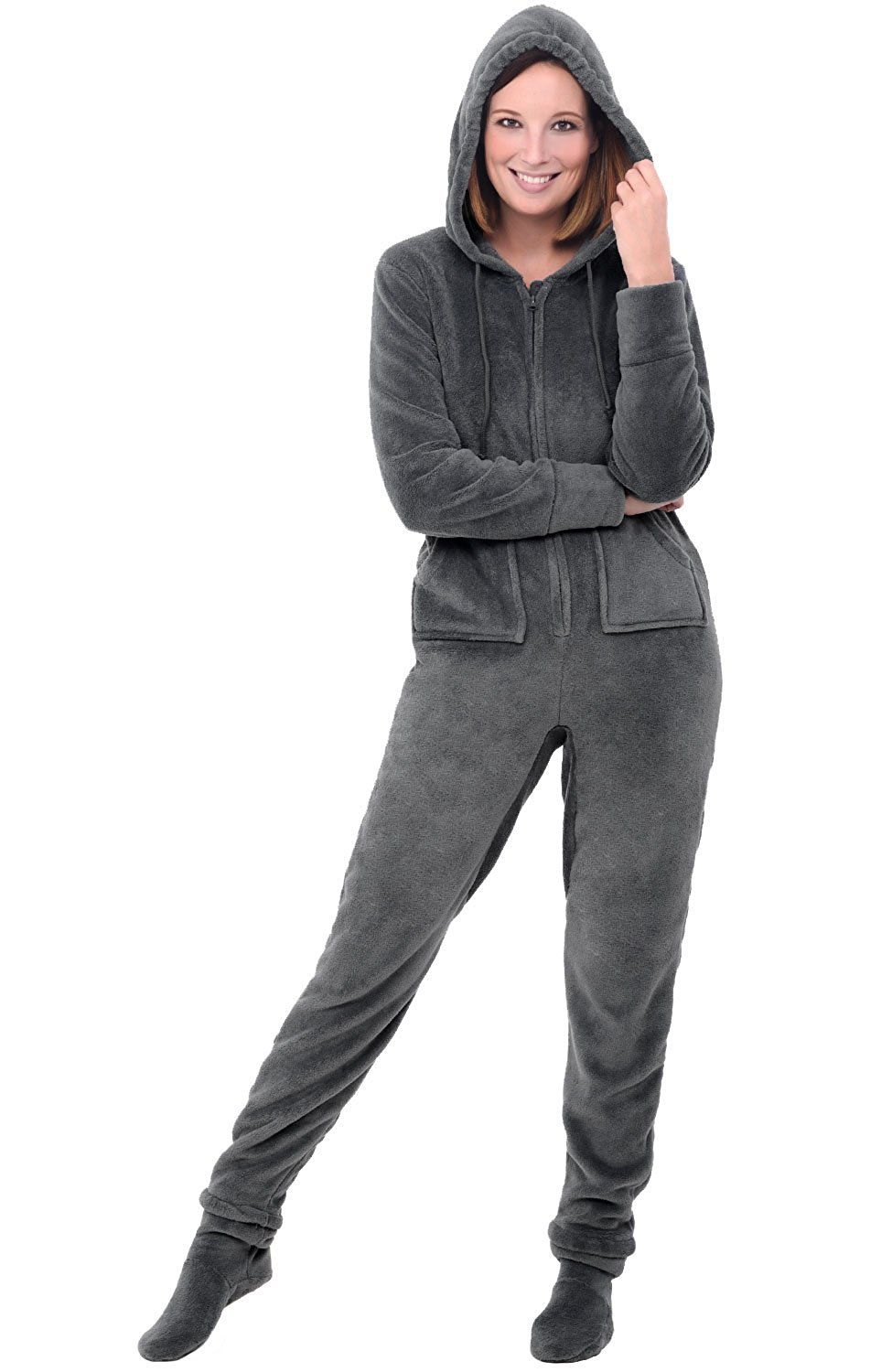 Get Quotations · Alexander Del Rossa Womens Fleece Onesie ea81b1eb2