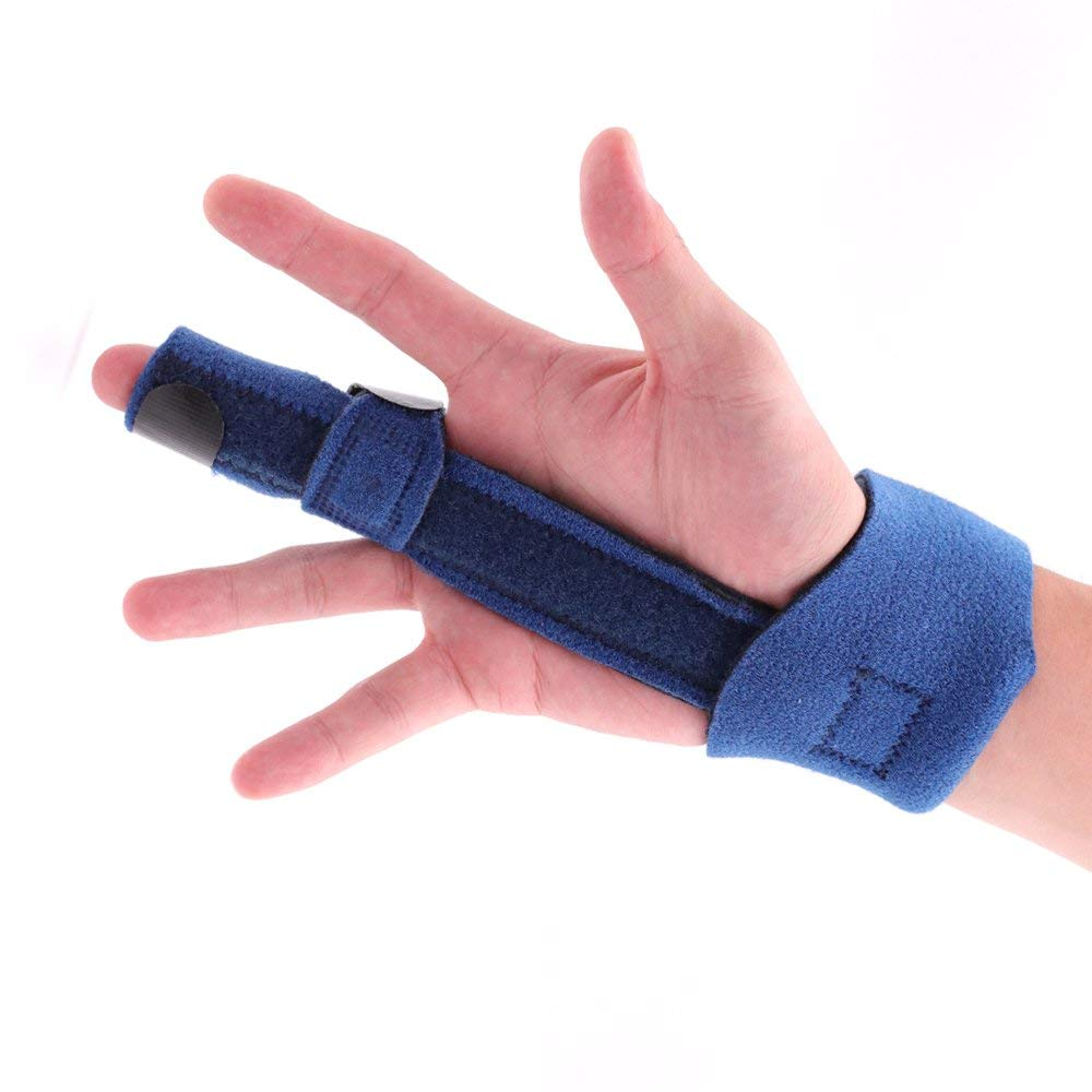 UMITOM Finger Extension Splint Finger Adjustable Velcro Belt for Finger Knuckle Immobilization, Finger Fractures, Wounds, Post-operative Care