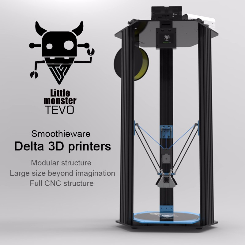 TEVO Delta Little Monster 3d printer KIT OpenBuilds Extrusion/Smoothieware/MKS TFT28/Bltouch Large 3D Printer Printing