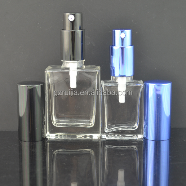 30ml 100ml 50ml clear square glass perfume bottle with diffuser