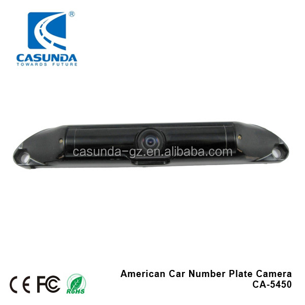 Rear view camera for America number plate, 600TVL sony ccd car number plate