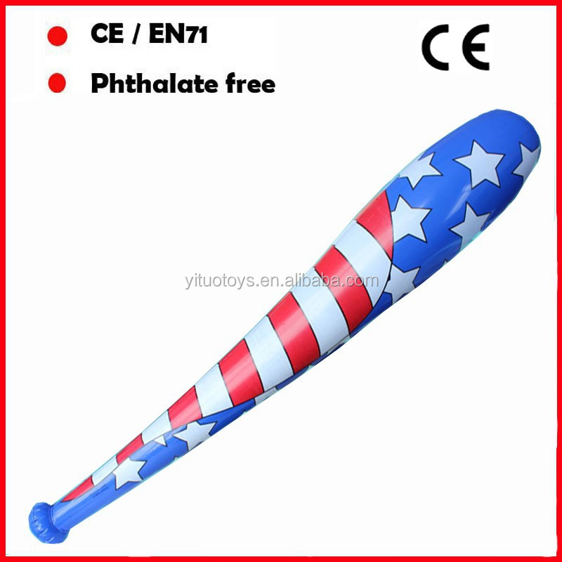 PVC toys inflatable baseball bat for promotion