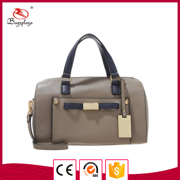 Mid high hand bag online selling women bags leather trim messenger bag