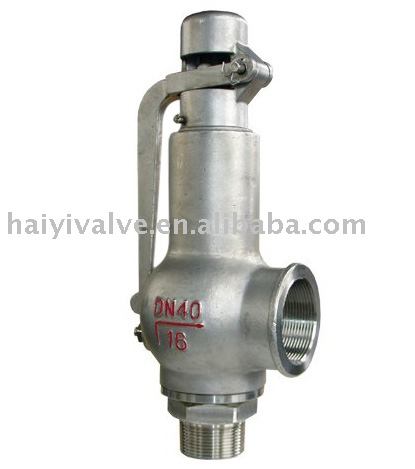 Screwed female Spring Full-open type pressure safety valve (with lever)