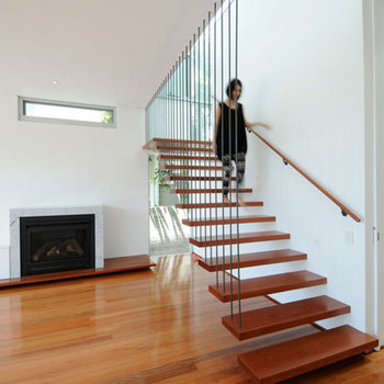 Gentil Safety Wooden Floating Staircase Low Price Design