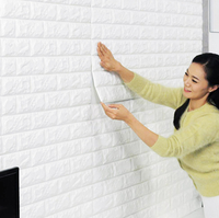 2019 HOTSALE 3D PE FOAM BRICK WALL STICKER KITCHEN TILE STICKER
