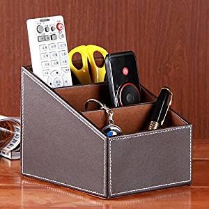 Tmarton Desk Organizer, Desktop Caddy, Office Supply Holder and Sorter - Coffee