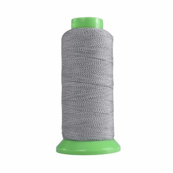 eco-friendly silver grey hivisibility reflective thread for embroidery