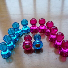 Whosale Translucent Color Neodymium magnetic push pins