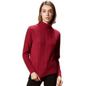Fashion knitting 100% Pure Cashmere sweaters Pullover winter knitwear for Women