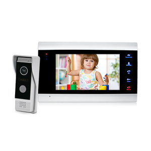 7 inch smart home video door phone intercom system with UI menu and support 32G SD card