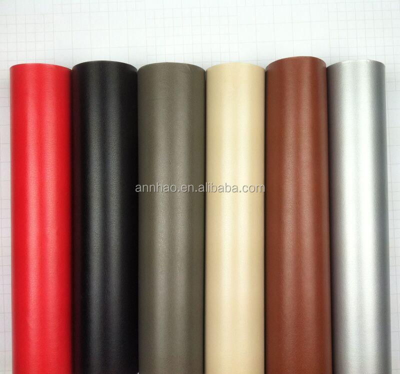 New Water-Proof PVC Self Adhesive Black Leather Vinyl Interior Film