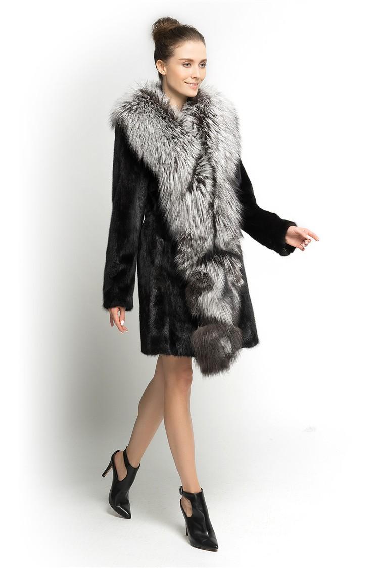 Qd70819 Unique Design 100% Real Fur Woman Wear Fox Fur Collar Mink ...