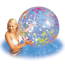 38cm Inflatable Beach Balls Pool Water Toys Transparent Swmming Pool Ball Colour
