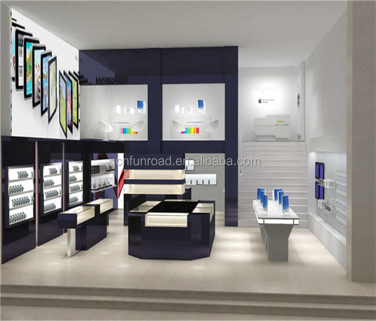 modern phone store design display table for sale