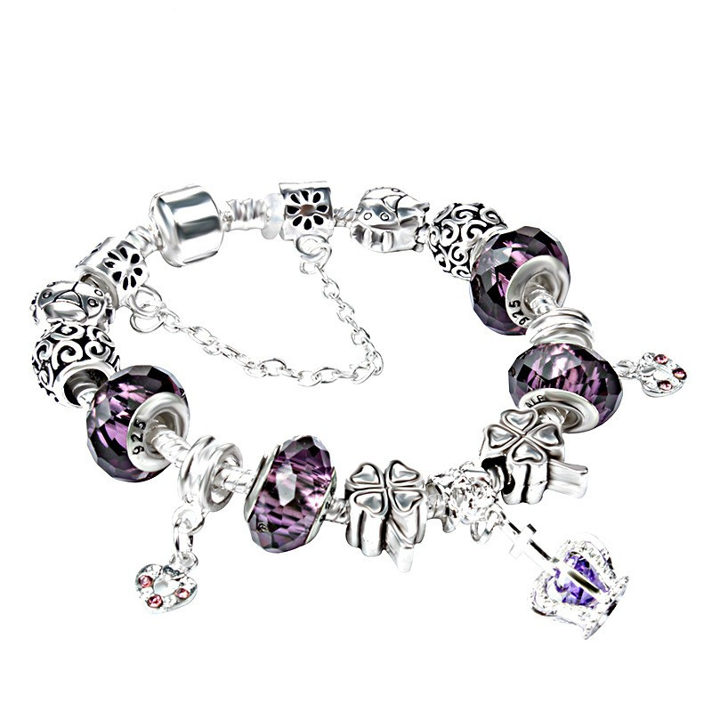Personality New Factional and Love Bracelet DIY Silver Planted Beads Charm Bracelet