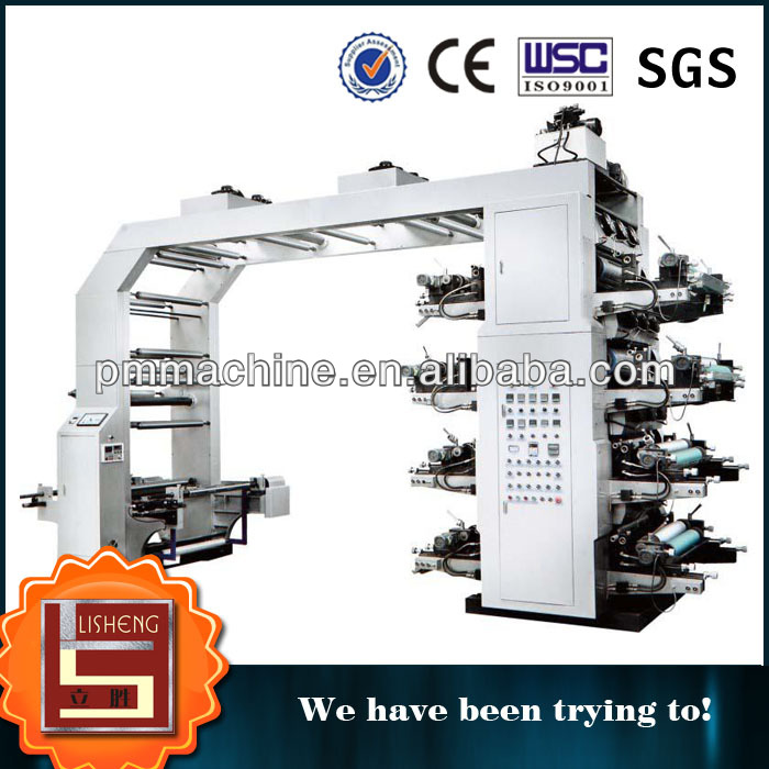 LISHENG BRAND Automatic 8 colors Flexo Paper Bag Printing Machine Manufacturer