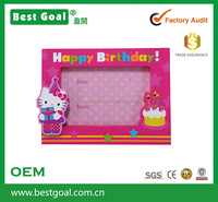 Happy Birthday Picture Frame Wooden Photo Frame with LED Light
