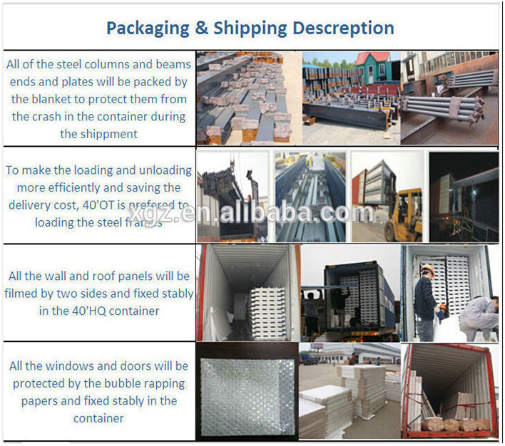 High standards low cost Sandwich Panel Steel Prefab Warehouse