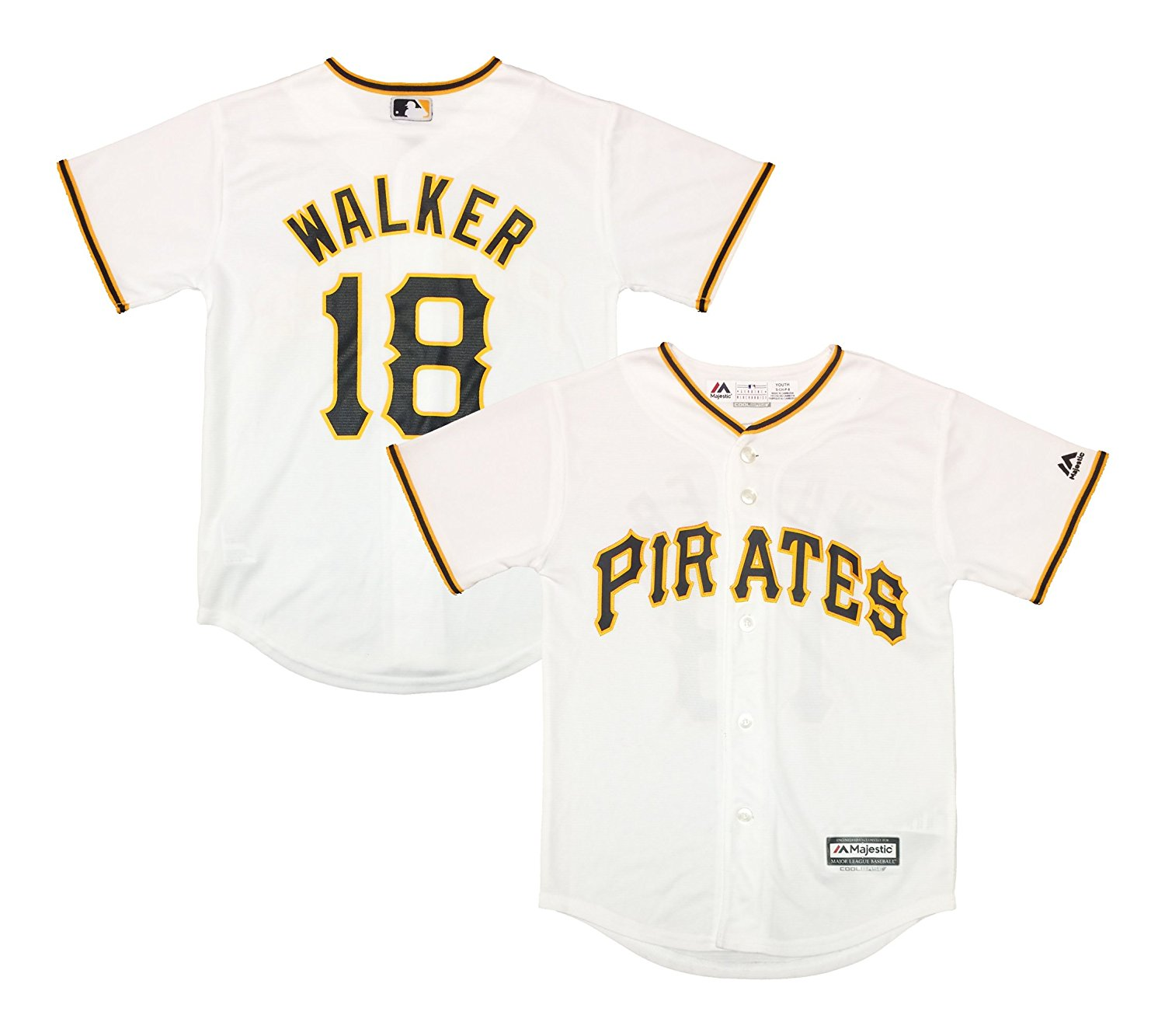 4bd907248ee Get Quotations · Neil Walker Pittsburgh Pirates White Youth Cool Base Home Replica  Jersey