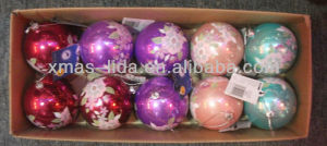 xmas silk ball ornaments