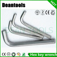 Drop forgrd stainless steel allen wrench L-type hex key wrench 8mm 6mm customized size