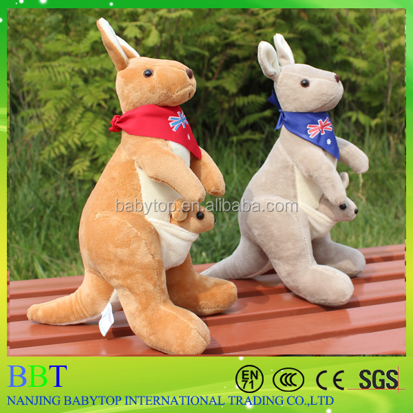 Cute Australian Soft Plush Kangaroo with Baby for child