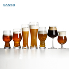 SANZO 2018 Hot Sale Lead Free Crystal Beer Stein Glass Cups Set Customized with Stock