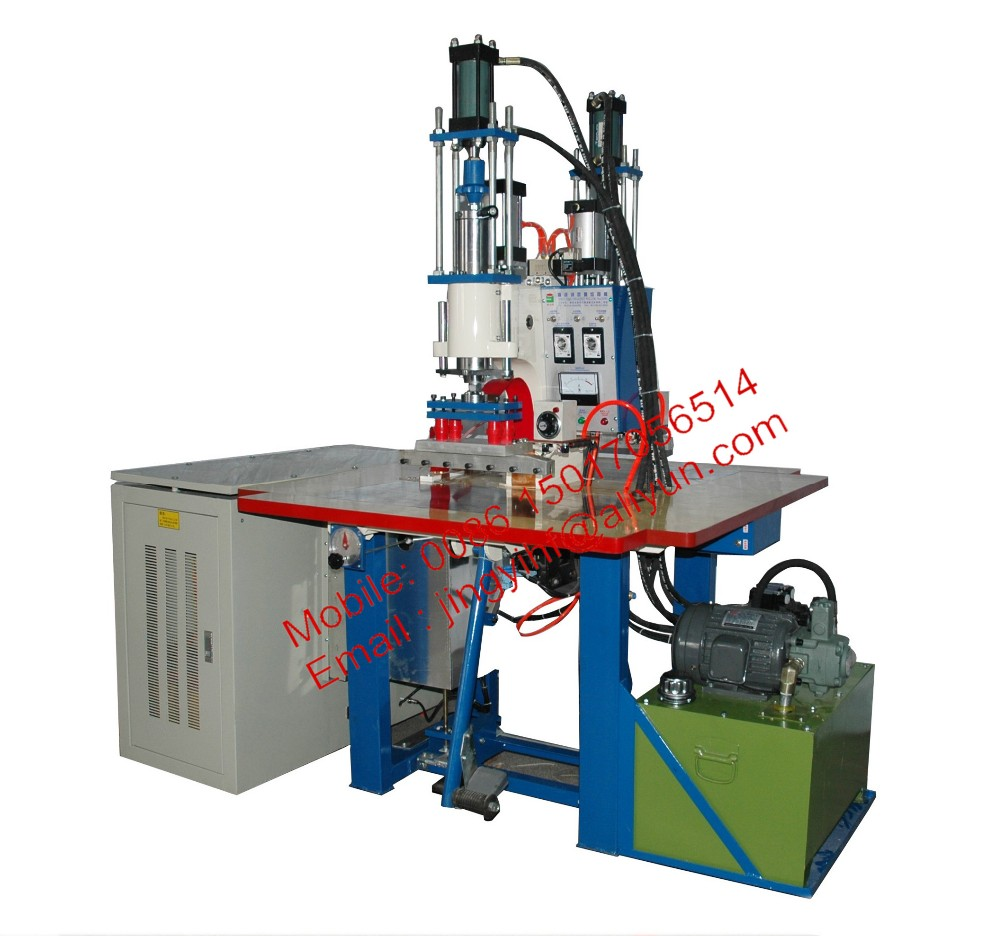 JingYi supply 5kw hydraulic type high frequency pu leather embossing machine