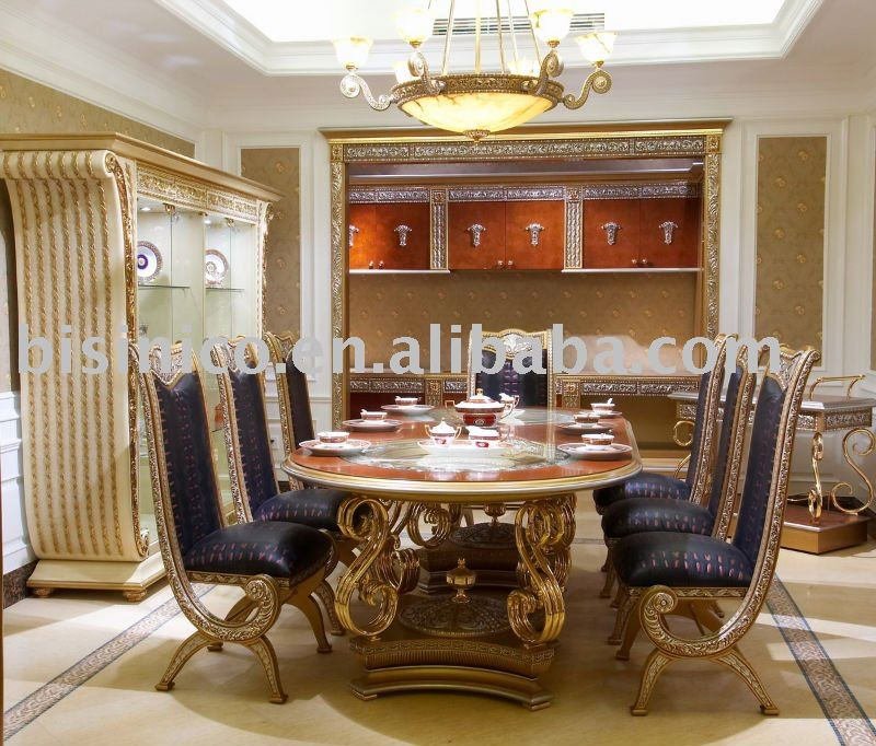 Luxury Classical Dining Room Furniture SetSoild WoodHand