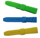 China supplier New 18mm 20mm 22mm 24mm Soft Sport Black Silicone Strap Waterproof 2 Spring Bars Rubber Watch Band