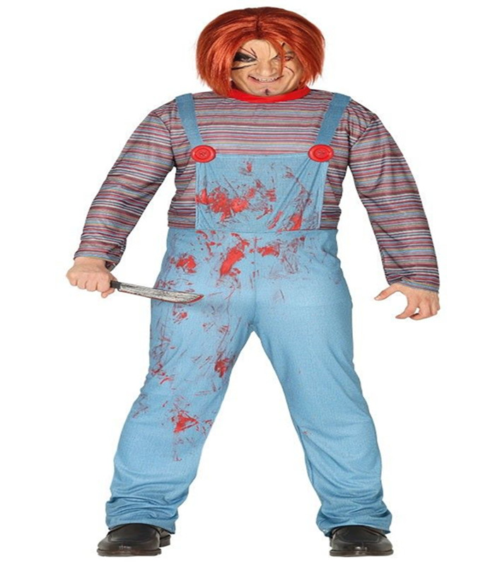 278b3394a03 Adult Mens Chucky Costume Killer Baby Halloween Fancy Dress Outfit Size  Ks1159 - Buy Halloween Costume,Killer Costume,Chucky Costume Product on ...