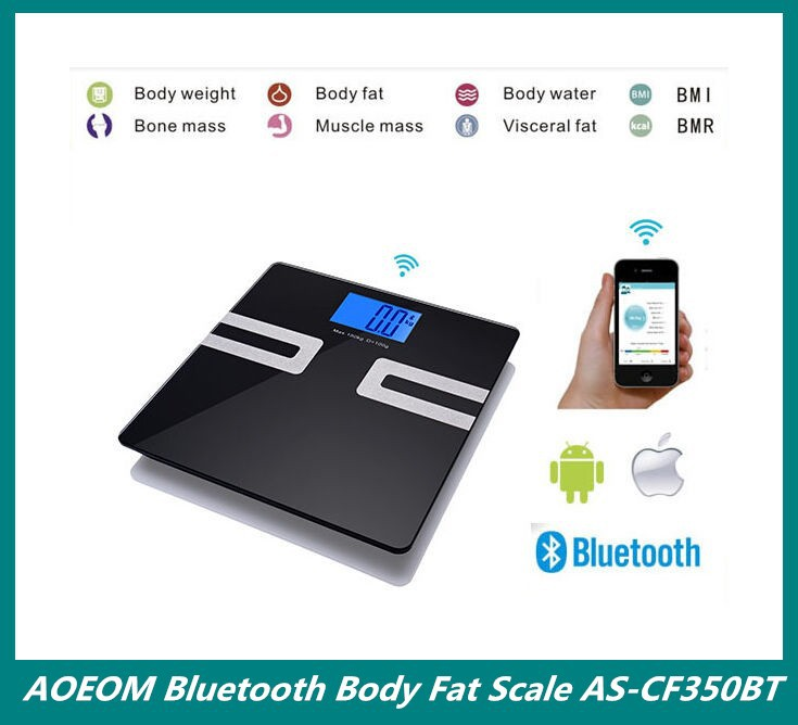 Bluetooth Fitness Electronic Body Fat Weighing Scale Device