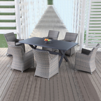 Superior Quality Grey Garden Line Patio Furniture Rectangular Rattan