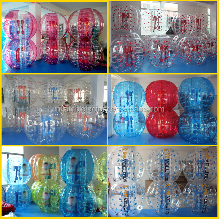 human football ball suit inflatable bubble football soccer games