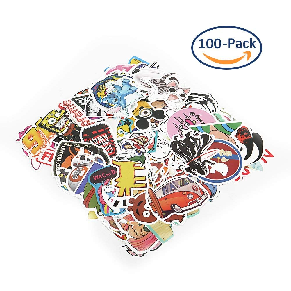 100 PCS Cartoon Stickers, Sarissa Waterproof Vinyl Stickers Car Sticker Motorcycle Bicycle Luggage Decal Graffiti Patches Skateboard Stickers for Laptop Stickers
