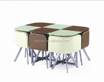 Modern Nested Dining Table With Chiar Furniture
